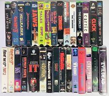 30 Vintage Horror Vhs Tapes Cult Classics Halloween Elvira Evil Dead Alien +More