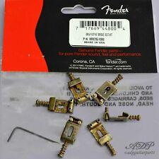 6xPontets Vintage Relic Fender Tremolo Strat Bridge Aged-Saddles 11,3 0992051000
