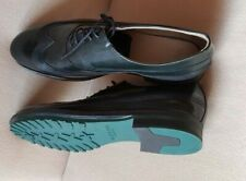 ZARA MEN SHOES BRUSHED LEATHER PERFORATED OXFORD DARK GREEN 5617/202  US 11 NEW