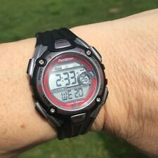 Armitron Women's Sports Watch Wr 330 Ft Backlight, Black, Gray, and Red Orange