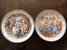 "Franklin Mint Teddy Bear Plates ""Thankful Teddies� ""Teddy Says His Prayers�"