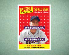 Al Kaline All Star Detroit Tigers 1958 Style Custom Art Card