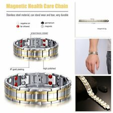 MENS BIO 4 IN 1 TITANIUM ANION MAGNETIC THERAPY BRACELET ARTHRITIS SUPER STRONG