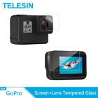 TEELSIN 2Pcs Tempered Glass HD Screen Lens Protector Film 2.5D for GoPro Hero 8