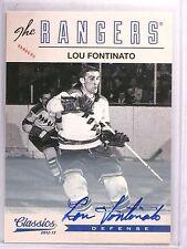 2012-13 Classic Signatures Lou Fontinato Autograph Auto #185 *55591