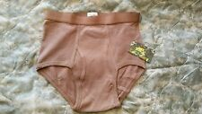 ~BVD MENS BRIEFS~MILITARY ISSUE~SIZE 42 THREE (3) PACK~ARMY BROWN COLOR~NEW~