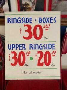 VINTAGE CHICAGO STADIUM BOX OFFICE SIGN OLSON - GAVILAN BOXING ORIGINAL POSTER
