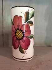CEFLOR.S.L Studio Pottery, VASE – Hand painted floral design. Made in Spain