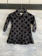 NEW! Girls' AMERICAN WIDGEON WOOL Blend Polka Dot Coat Jacket, Size 5 - Black