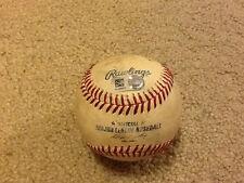 Marcell Ozuna GAME USED Baseball Hit 127 Miami Marlins DAVID PRICE MLB Authentic