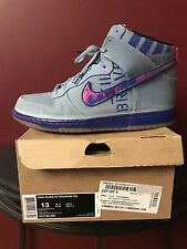 RARE USED 2012 NIKE DUNK HI PREMIUM QS SZ 13  GALAXY ALL STAR 503766-440 GREY