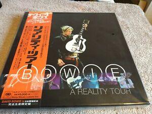 DAVID BOWIE A REALITY TOUR RARE JAPAN 3LP BLUE VINYL BOX SET OBI NEW