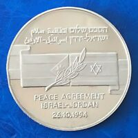 Israel-Jordan Peace Agreement Official State Medal Copper-Nickel 1994 UNC 38.5mm