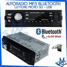 AUTORADIO STEREO RADIO FM BLUETOOTH VIVAVOCE SAMSUNG IPHONE AUX MP3 USB MICRO SD