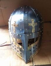 crusader face plate Spectacle Helmet free Chainmail Aventail Steel