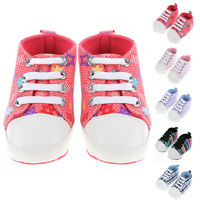 Newborn Infant Toddler Baby Boys Girl Soft Sole Crib Shoes Sneaker Size 0-24M