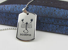 Scorpio 1pcs Women/ Men's Silver 316L Stainless Steel  Pendant Necklace