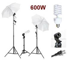 600W Photo Video Studio Light Umbrella Lighting Kit Set