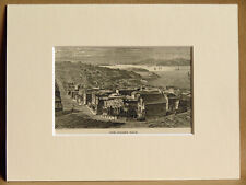 THE GOLDEN GATE USA ANTIQUE ENGRAVING FROM 1876 VINTAGE PUBLICATION VERY RARE