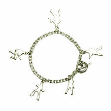 Jail House Rock  - Silver Charm Bracelet