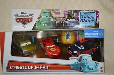 Disney Pixar World Of Cars Streets Of JAPAN Set Of 3 McQueen,Yokoza,Reezu  NIB