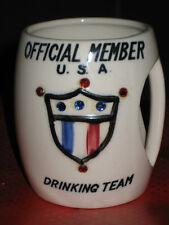 Vintage 1957 Official Memeber USA Drinking Team Mug St Pierre Patterson RARE!