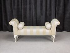 56 Large Chaise Longue Lounge Sofa Day Bed Seat Chair Gold Fabric 2 Bolsters Uk
