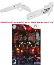 Wii House of The Dead 2 & 3 Return Game + Two White Guns