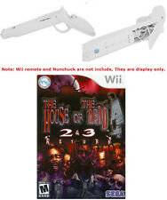 House of The Dead 2 / 3 Return Game for Wii + 2x White Guns ~F