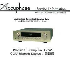 Accuphase Service Manual für C- 245   Copy