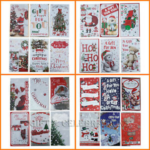 Pack of 8 Assorted Christmas Money Envelope Gift Card Voucher Wallet Xmas Santa
