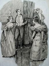 Original Victorian Book Artwork JANE AUSTEN Style William Makepeace Thackeray MS