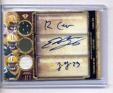 EDDIE LACY RANDALL COBB FRANKLIN 2013 TOPPS TRIPLE THREADS AUTO JERSEY RC #9/9