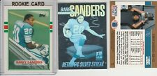 BARRY SANDERS LOT (13) DIFFERENT W/ 1989 TOPPS RC BLANK FRONT ERROR INSERTS HOLO