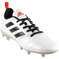 adidas ACE 17.4 FG Women's Firm Ground Football Boots Moulded Studs White Black