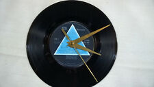 "PINK FLOYD Dark Side Of The Moon 7"" VINYL Single Wall Hanging Clock (Gift/Xmas)"