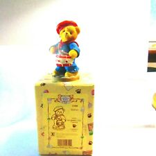 Enesco Cherished Teddies Patriotic Walter 1999 Member'S Only Figurine Mib
