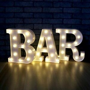 3PCS LED Alphabet Marquee BAR Sign Carnival Marquee Chic Shabby Night Light