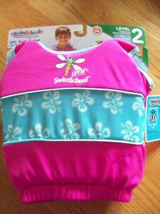 SWIMSCHOOL 2 PIECE LEVEL 2 SWIM TRAINER FOR GIRL'S AGES 2-4, NWT