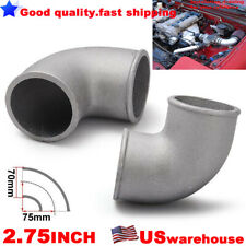 "2.75"" INCH 70mm Cast Aluminium Elbow Pipe 90 Degree Intercooler Turbo Tight Bend"
