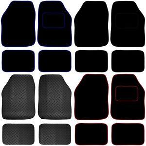Universal Car or Van Floor Mats 4PC Set Non Slip Carpet or Rubber Red,Blue,Black