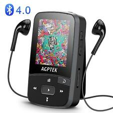 Agptek Bluetooth Mp3 Player 16Gb with Clip Supports Fm Radio Voice Recorder