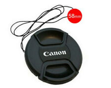 NEW 58mm Size Snap-on Central Pinch Front Lens Cap Cover For Canon with String