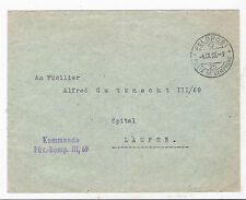 SWITZERLAND,1913,  AN EARLY FIELD POST,COMMANDO UNIT ,TO LAUFEN,RECEIVING PMK