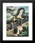 Ten Pound Hammer 26x32 Large Black Wood Framed Art Print by Thomas Hart Benton