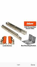 "BLUM 563H 21"" Tandem PLUS Blumotion Under Mount 5/8"" drawer,cabinet  SoFT 5 Bulk"