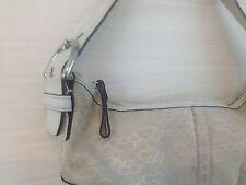 COACH Bag White Leather and Signature Canvas Handbag PURSE #6351