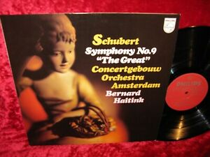 1976 HOLL NM PHILIPS 9500 097 STEREO SCHUBERT SYMPHONY 9 HAITINK COVER EXC+