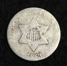 1853 Three Cent Silver Piece CHOICE FREE SHIPPING E188 UCC