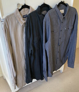 Gazman (2) XL Beige XXL  Black Linen Colorado (1) XXL Grey Cotton Casual Shirts